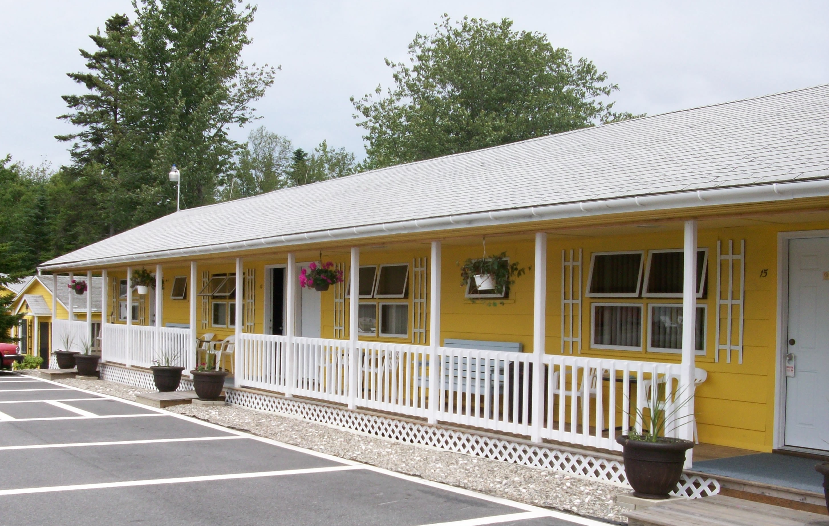 Motel units at Acadia's Sunnyside Motel & Cottages are clean, modern